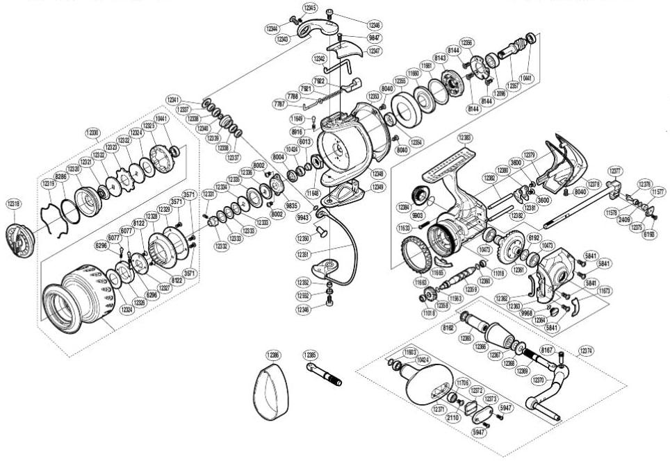 Современная безинерционная рыболовная катушка состоит из сотни деталей